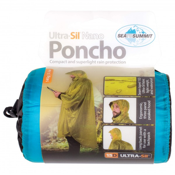 Sea to Summit - Poncho 15D - Regnjacka