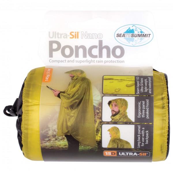 Sea to Summit - Poncho 15D - Regnjakke