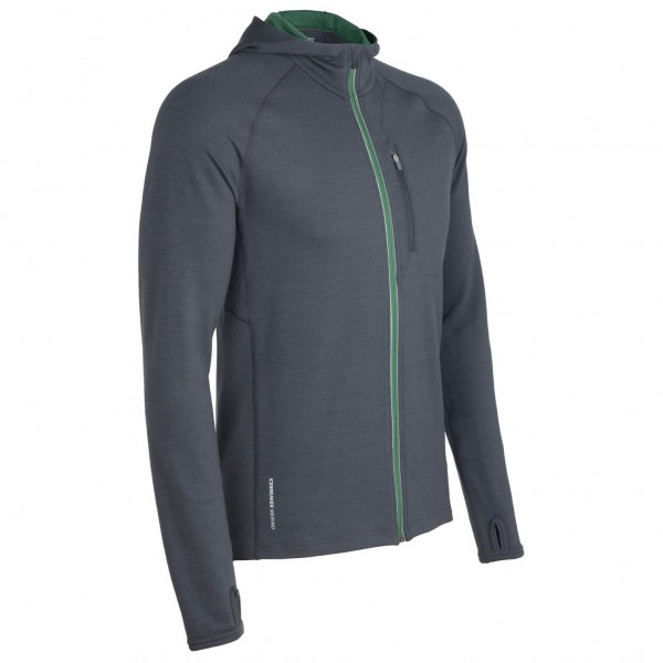 Icebreaker - Quantum LS Hood - Wool jacket