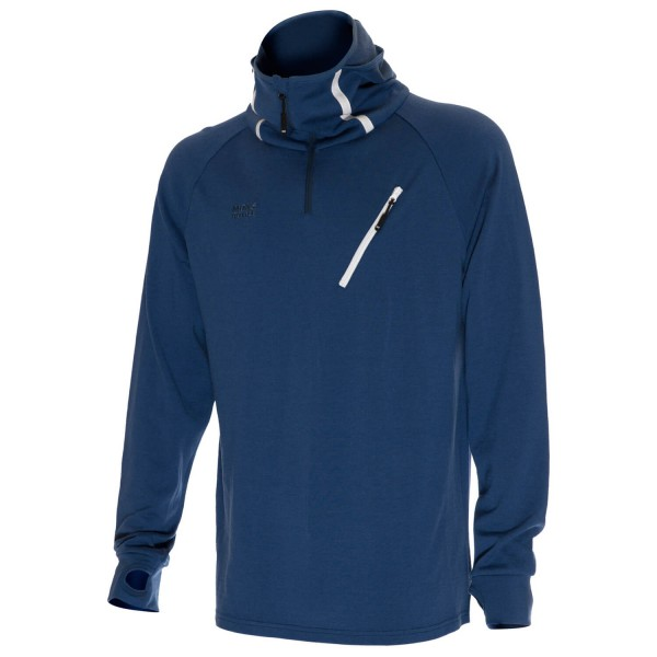 Mons Royale - 1/4 Zip Hoody - Pull-over en laine mérinos