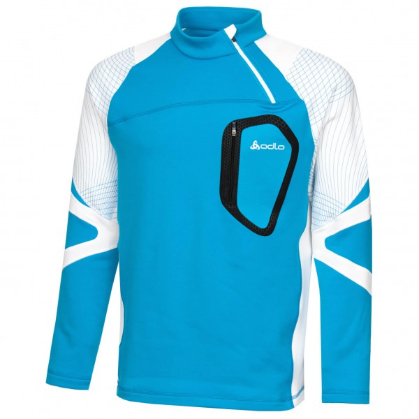 Odlo - Stand-Up Collar 1/2 Zip Energetic - Fleecetrui