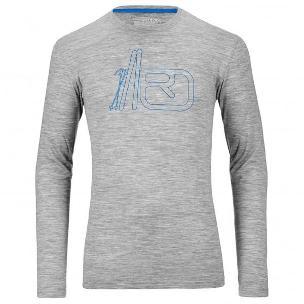 Ortovox - Merino 185 Long Sleeve Print - Merino trui