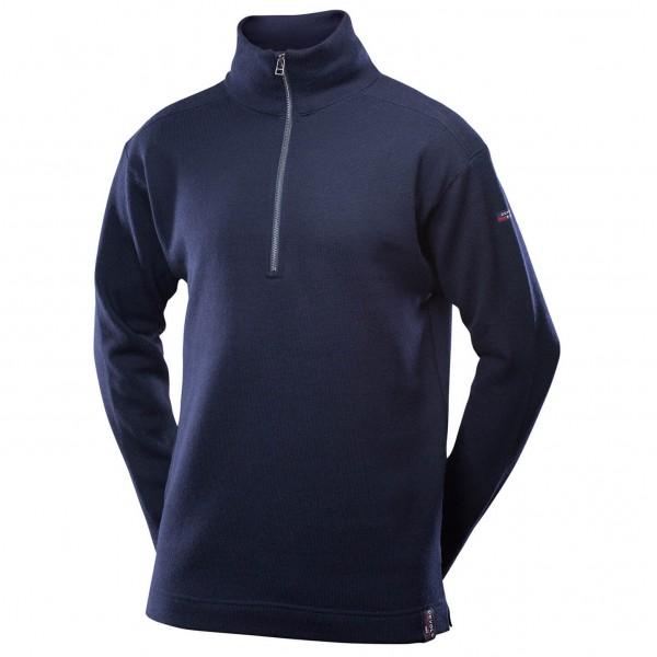 Devold - Blaatröie Sweater Zip Neck - Merinovillapulloveri