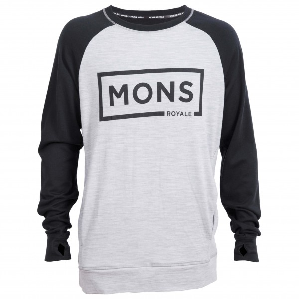Mons Royale - Covert Tech Sweat Box Logo - Merino sweatere