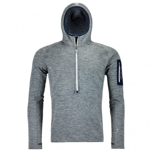 Ortovox - Fleece Light Melange Zip Neck - Fleecepulloverit