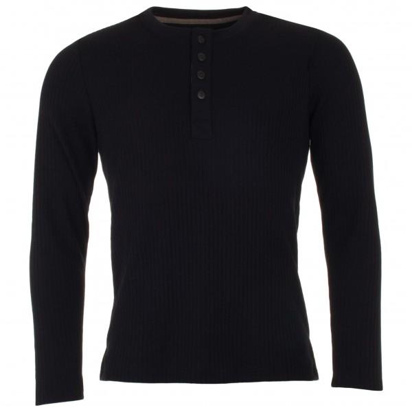 Engel - Shirt L/S mit Knopfleiste - Merinopullover