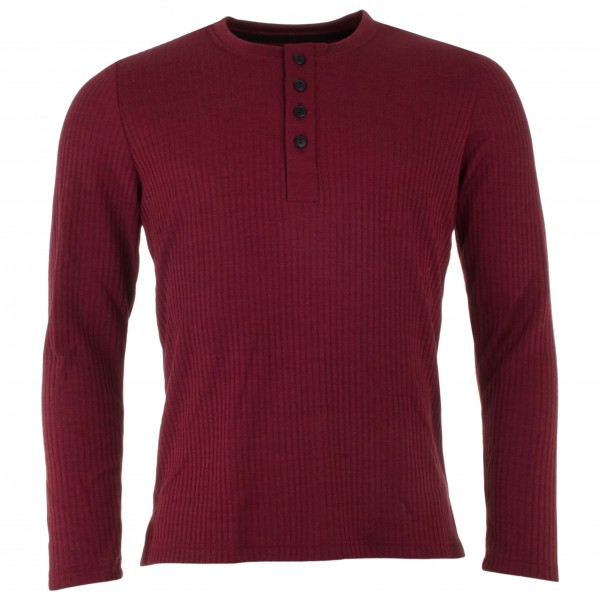 Engel - Shirt L/S mit Knopfleiste - Merino jumper