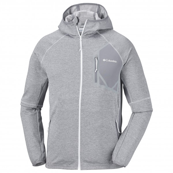 HeatherM Fleece Hooded Veste Columbia Polaire Canyon Ash Triple Grey Qsdthr