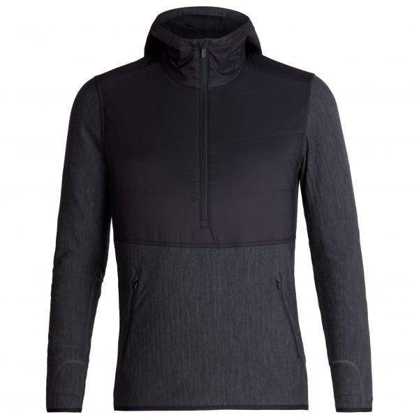 Icebreaker - Descender Hybrid L/S Half Zip Hood - Chaqueta de lana