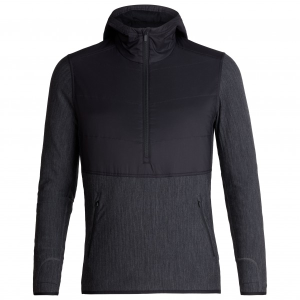 Icebreaker - Descender Hybrid L/S Half Zip Hood - Wool jacket