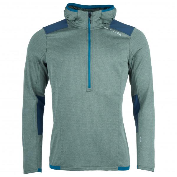Ortovox Fleece Light Grid Zip Neck Hoody Fleece jumper Green Forrest | M