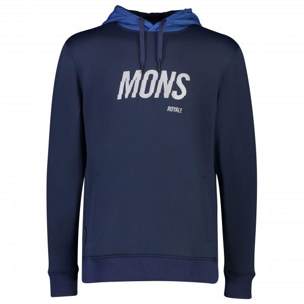 Mons Royale - Decade Logo Hoody - Merinovillapulloverit