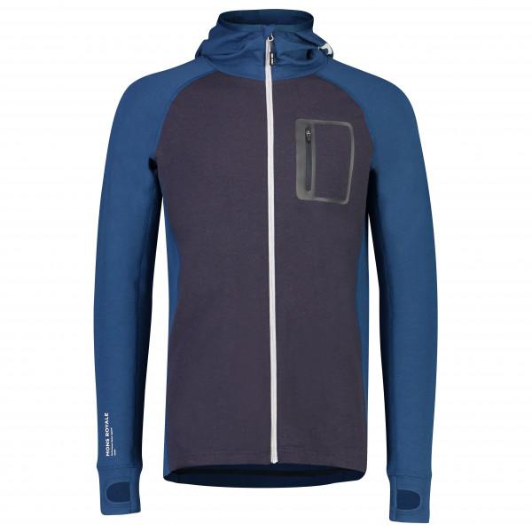 Mons Royale - Traverse Midi Full Zip Hood - Merino sweatere