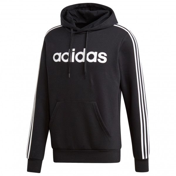 adidas Essentials 3 Stripes Pullover Fleece Fleecepullover Black White | S