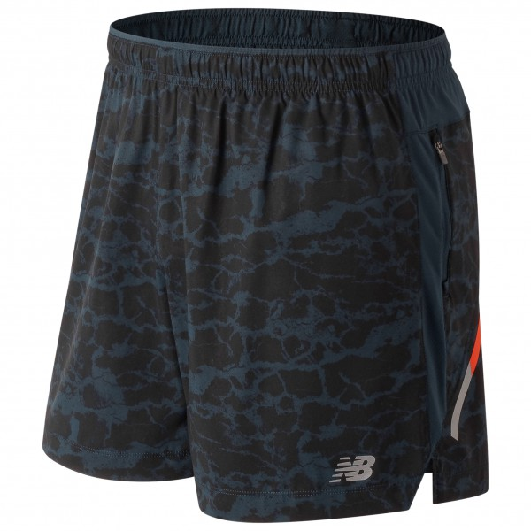 New Balance - Printed Impact Short 5in - Pantalones cortos de running