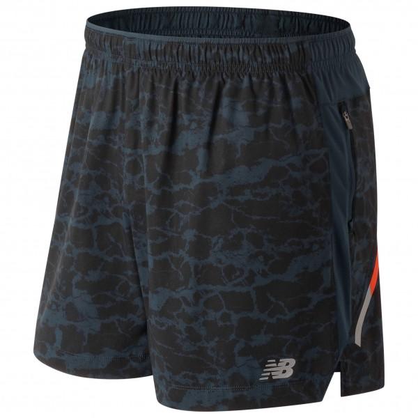 New Balance - Printed Impact Short 5in - Running shorts