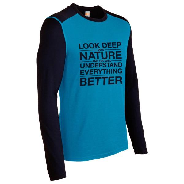 Icebreaker - Oasis LS Crewe Look Deep - Long-sleeve
