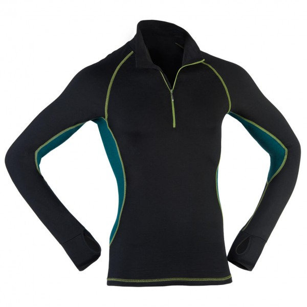 Engel Sports - Lauf-Shirt L/S Zip Slim Fit - Manches longues