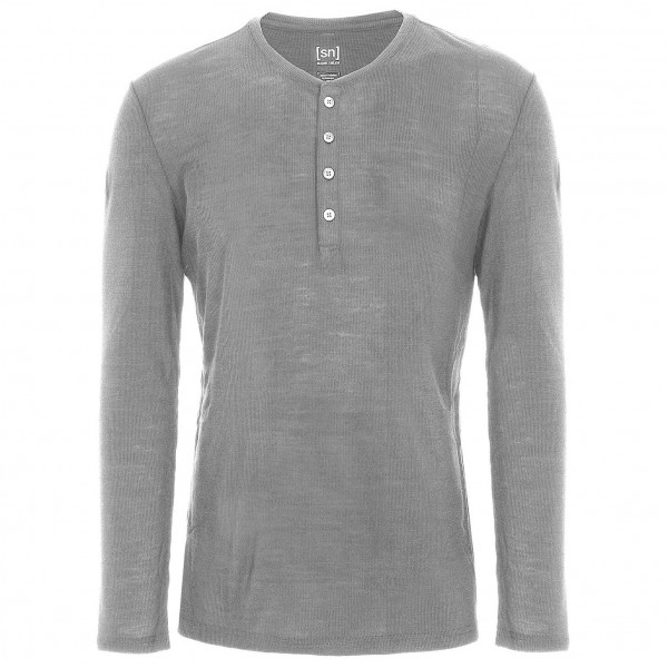 SuperNatural - Button Henley LS Rib - Longsleeve