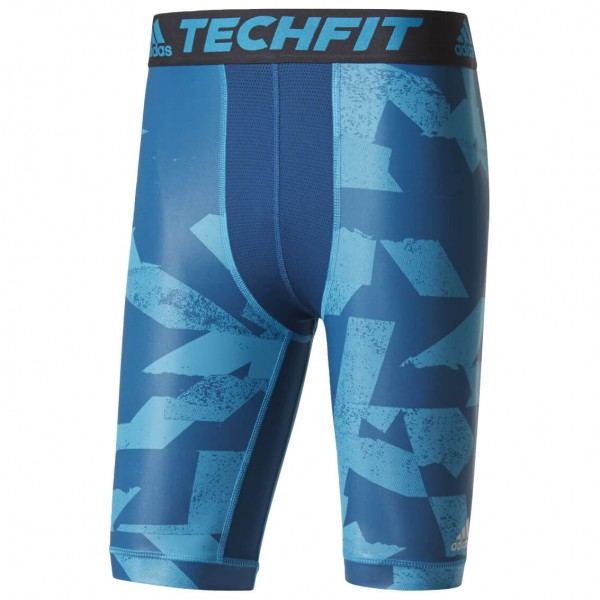 adidas - Techfit Chill Short Tights Print - Synthetisch ondergoed