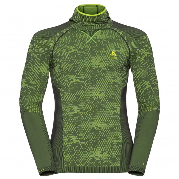 Odlo - Blackcomb Evolution Shirt L/S with Facemask - Syntetisk undertøj