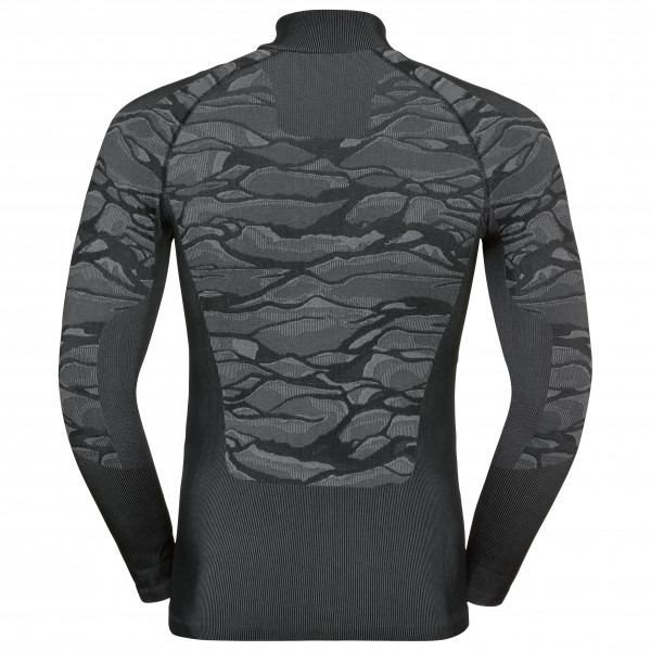 Odlo - BL Top Turtle Neck L/S Half Zip Blackcomb - Synthetic base layer