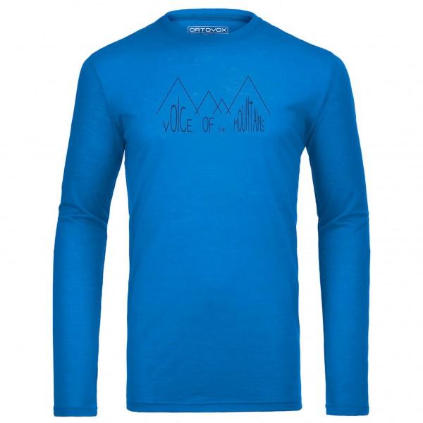 Ortovox - Merino 150 Ridge Print L/S - Merino ondergoed