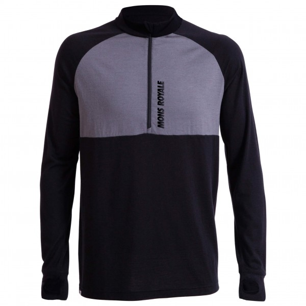 Mons Royale - Duct Tape L/S Zip - Merino ondergoed