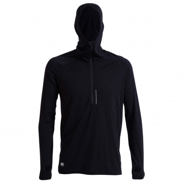 Mons Royale - Temple Tech Zip Hood L/S - Merino underwear