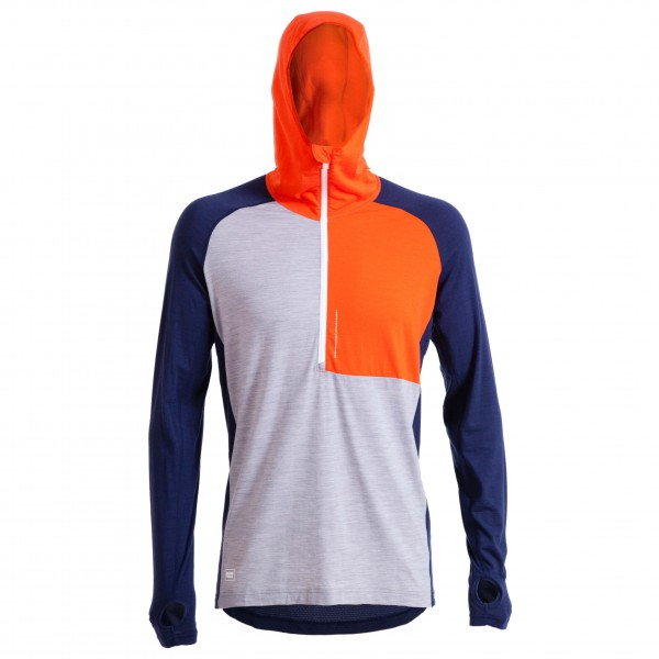 Mons Royale - Temple Tech Zip Hood L/S - Merinounterwäsche