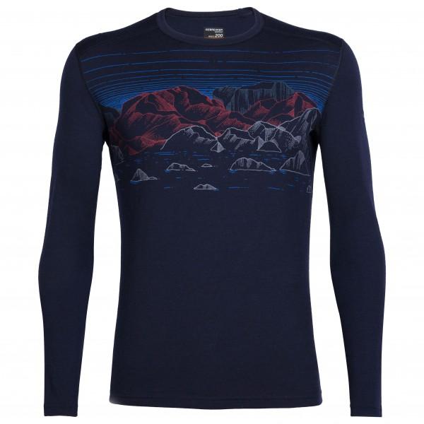 Icebreaker - Oasis L/S Crewe Sky Night - Underkläder merinoull