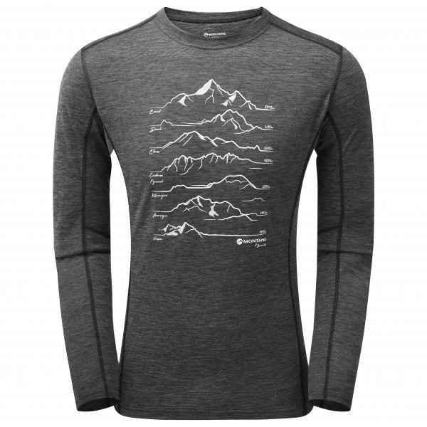 Montane - Primino 140G 7 Summits Long Sleeve T-Shirt - Merino undertøj
