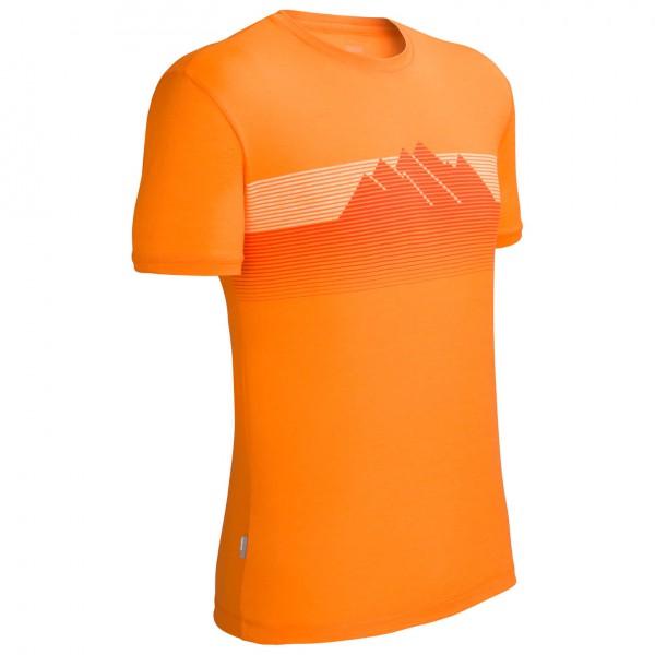 Icebreaker - Tech T Lite Stripe Mountain - T-Shirt