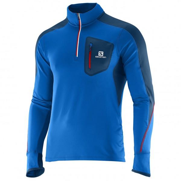 Salomon - Trail Runner Warm LS Zip Tee - Løbeshirt