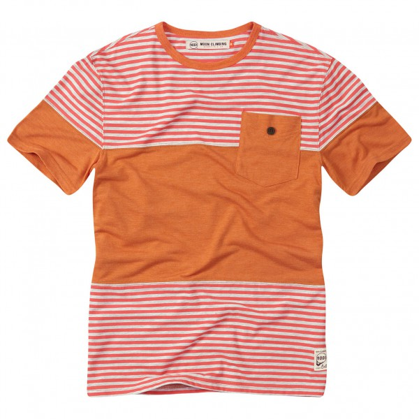 Moon Climbing - Striped Pocket Tee - T-shirt