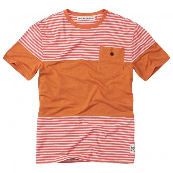 Moon Climbing - Striped Pocket Tee - T-Shirt