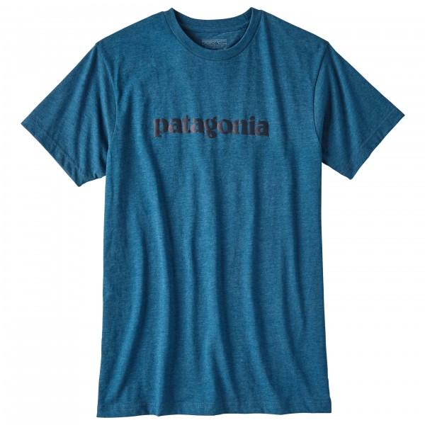 Patagonia - Text Logo Cotton/Poly T-Shirt - T-shirt