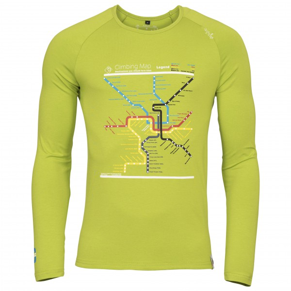 Chillaz - L/S Verdon Map - Long-sleeve