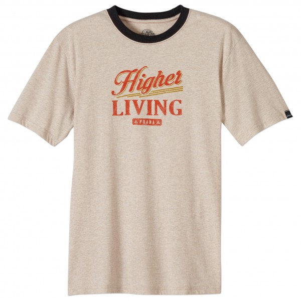 Prana - Higher Living Logo Ringer - T-shirt