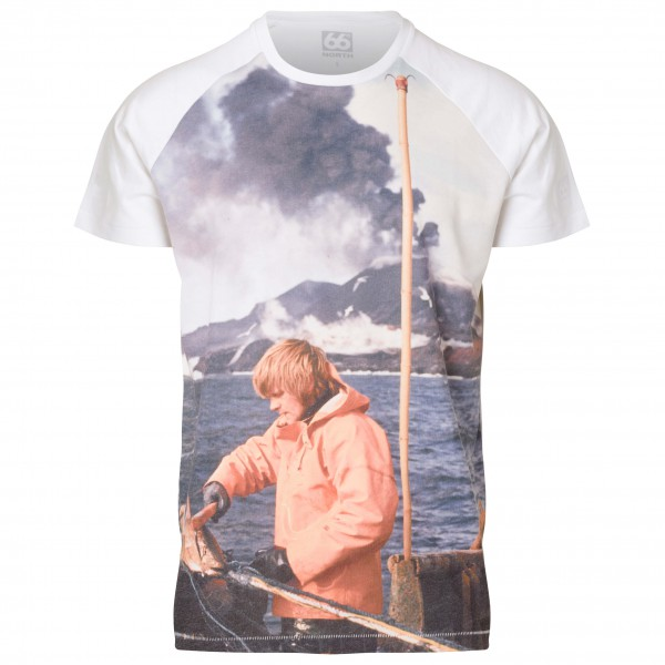 66 North - Logn Baseball Tee Sailor Print - T-paidat