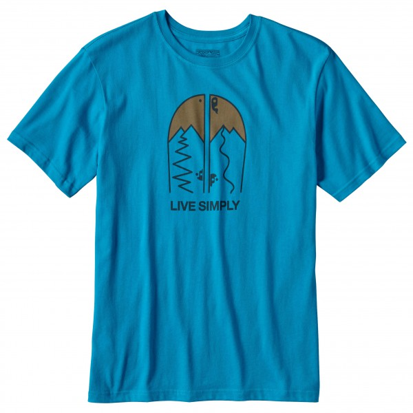 Patagonia - Live Simply Split Cotton T-Shirt - T-paidat