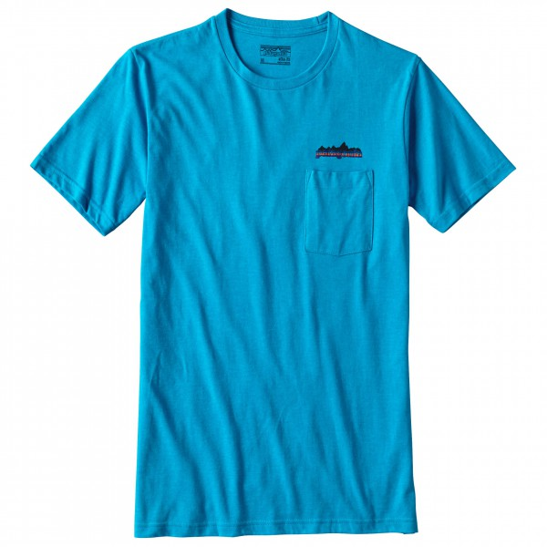 Patagonia - Nightfall Fitz Roy Cotton/Poly Pocket T-Shirt