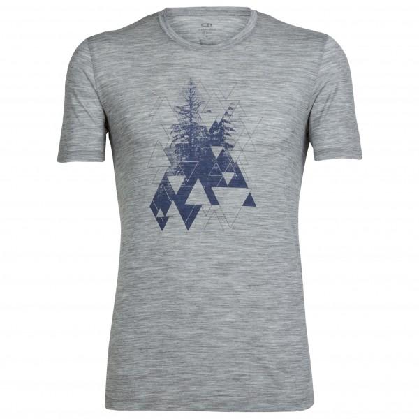 Icebreaker - Tech Lite S/S Crewe Evergreen Geo - Sport shirt