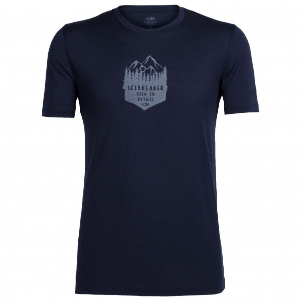 Icebreaker - Tech Lite S/S Crewe High Mountain Crest - Sport-T-shirt