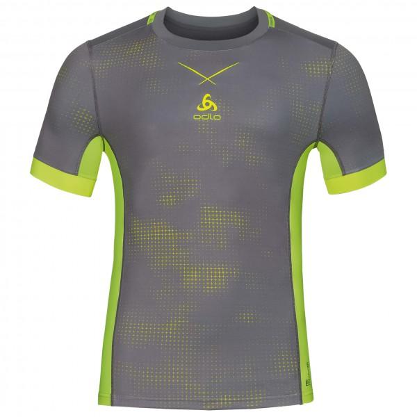 Odlo - Shirt S/S Crew Neck Ceramicool Pro Print - Sport shirt