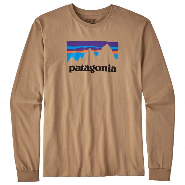 Patagonia - L/S Shop Sticker Cotton T-Shirt - Longsleeve