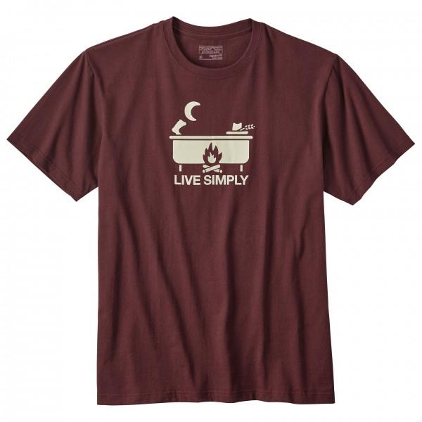 Patagonia - Live Simply Hot Tub Cotton/Poly Responsibili-Tee - T-shirt