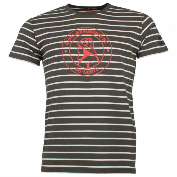 66 North - Original Sailor Logo Striped Tshirt - T-shirt