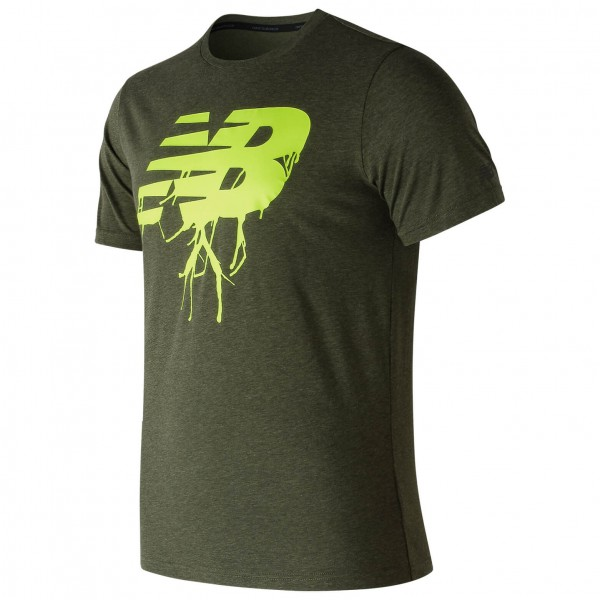 New Balance - Graphic Heather Tech Tee - T-skjorte