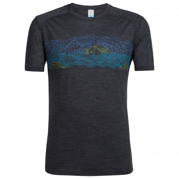 Icebreaker - Sphere S/S Crewe Turbulent Stripe - T-Shirt